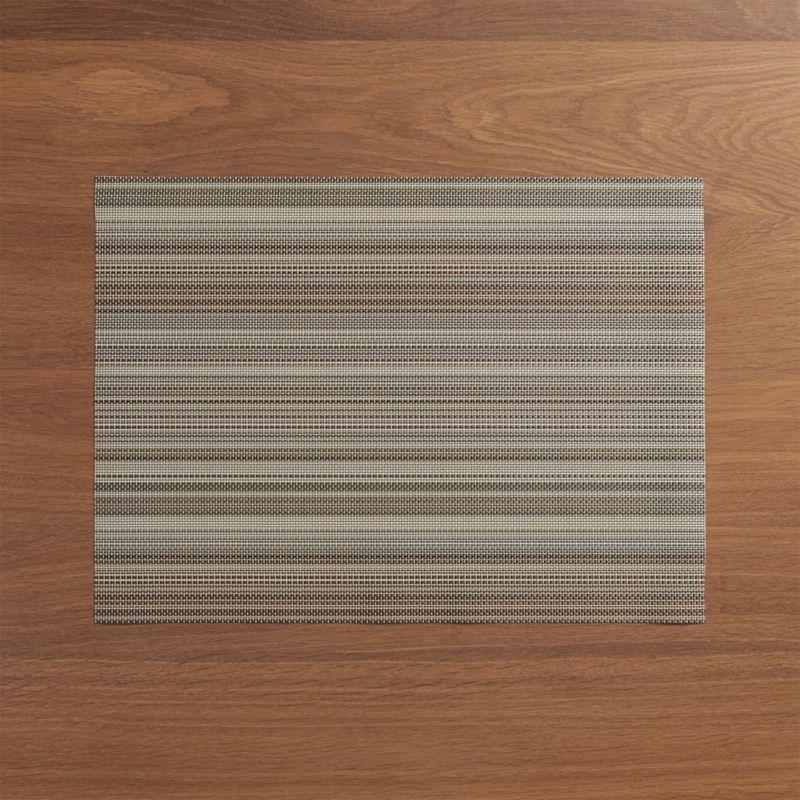 Chilewich ® Chroma Grey Stripe Vinyl Placemat