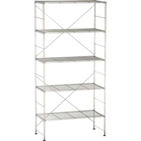 Chrome 5-Shelf Unit