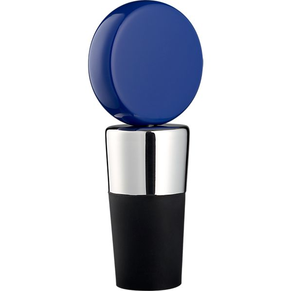 Circ Blue Bottle Stopper