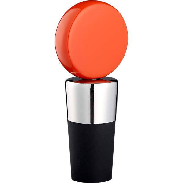 Circ Orange Bottle Stopper