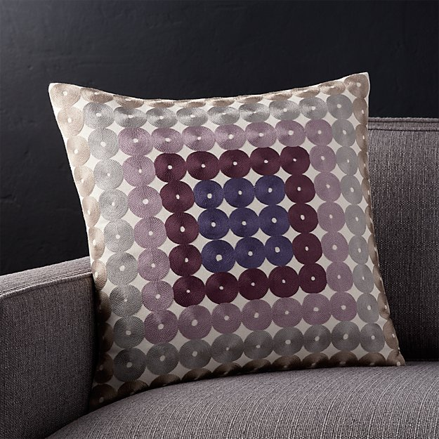 "Circles 18"" Pillow with Feather-Down Insert"