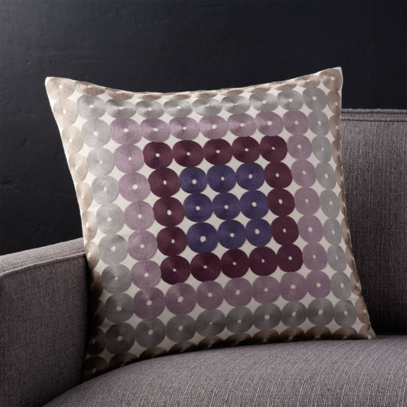 "Circles 18"" Pillow with Down-Alternative Insert"
