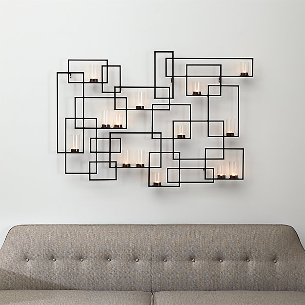Crate And Barrel Outdoor Wall Decor : Circuit metal wall candle holder crate and barrel
