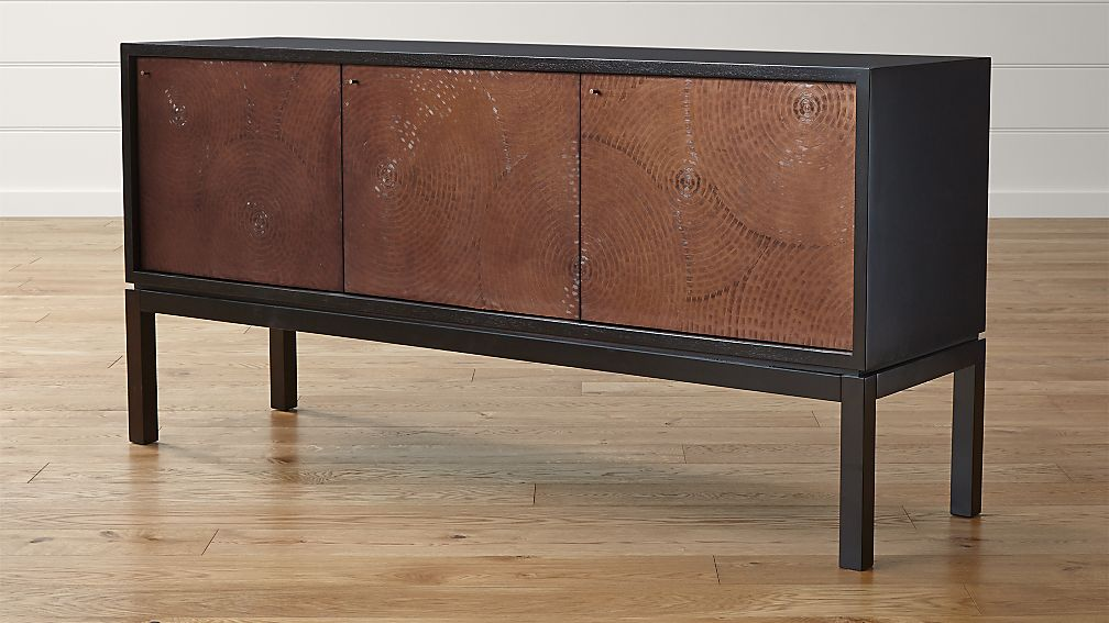 cirque three door sideboard crate and barrel. Black Bedroom Furniture Sets. Home Design Ideas