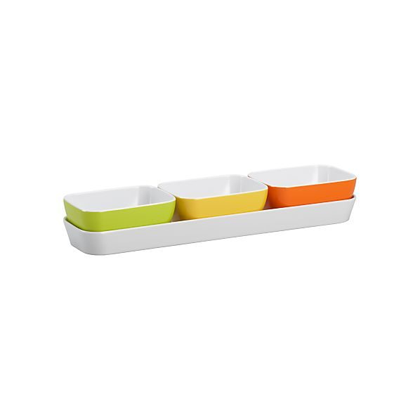Citrus Three-Part Server with Tray | Crate&Barrel | Serveware