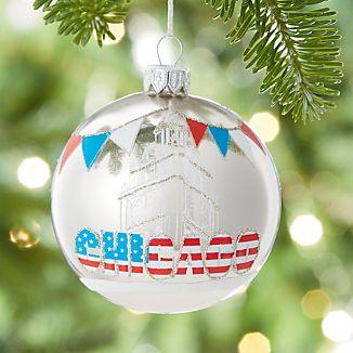 City Chicago Ball Ornament