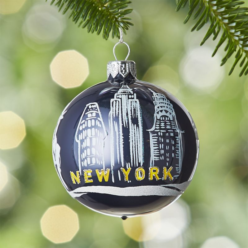 City New York Ball Ornament
