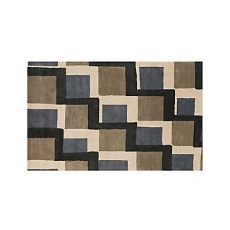 City Grey Wool 5'x8' Rug