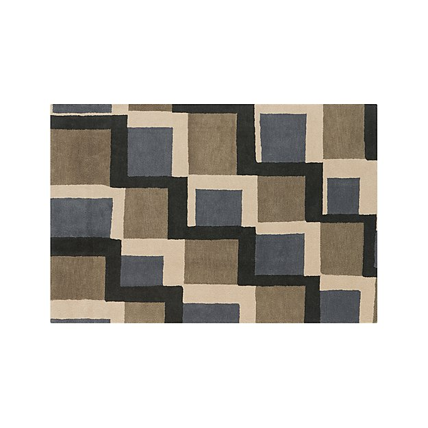 City Grey Wool 6'x9' Rug