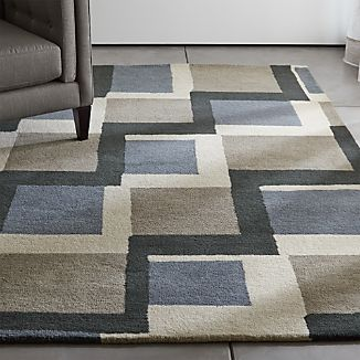 City Grey Wool Rug