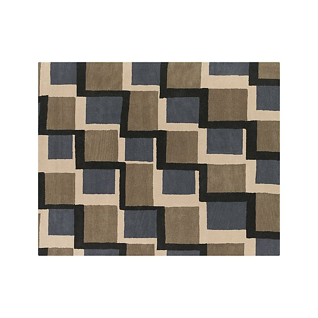 City Grey Wool 8'x10' Rug