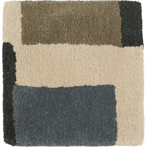 """City Grey Wool 12"""" sq. Rug Swatch"""