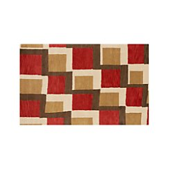 City Orange Wool 5'x8' Rug