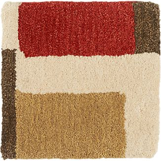 "City Orange Wool 12"" sq. Rug Swatch"