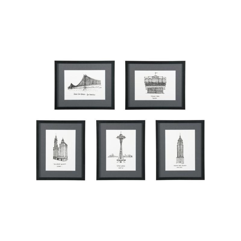 Crate & Barrel – Cityscape Prints