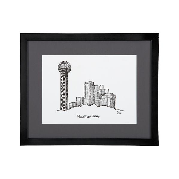 Cityscape Dallas Print