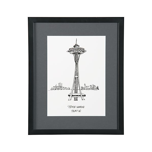 Cityscape Seattle Print