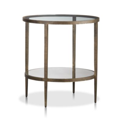 Clear glass sofa side tables modern metal glass round end table quotes