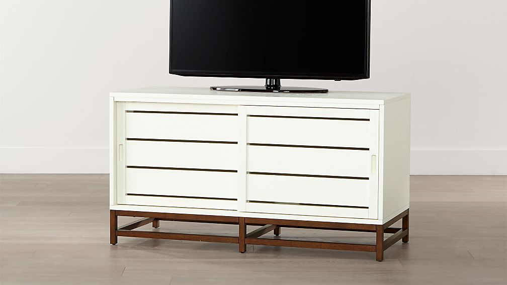 Clapboard White 48 Media Console Crate And Barrel