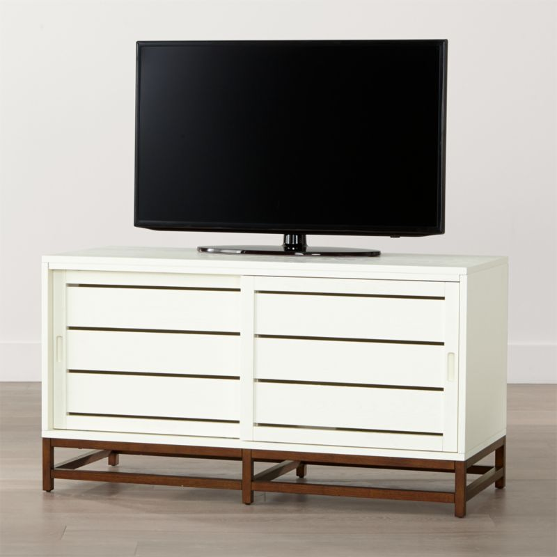 Clapboard white 48 media console crate and barrel White media console