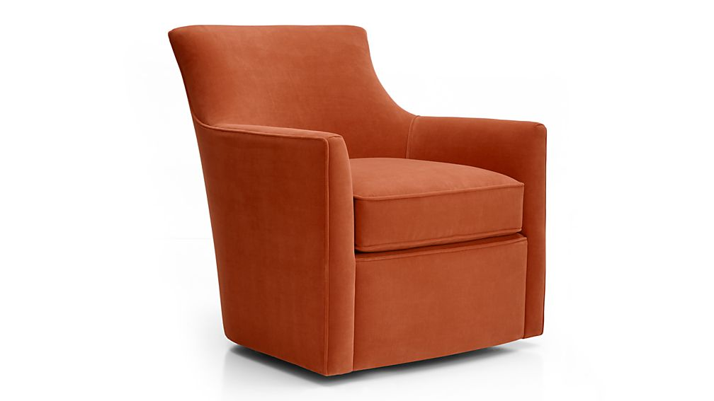 Clara Swivel Chair Dune Sunset Crate And Barrel