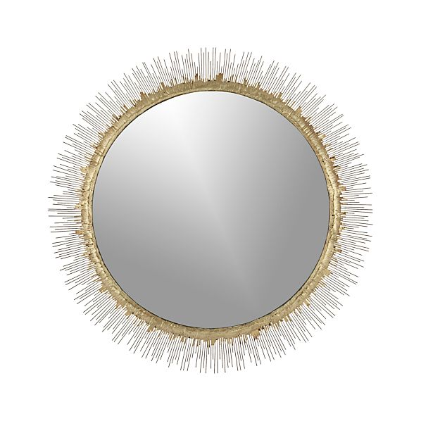 Clarendon large round wall mirror crate and barrel for Big circle mirror