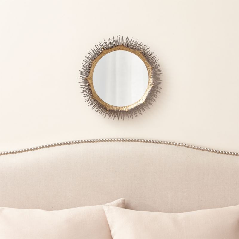 Clarendon small round wall mirror crate and barrel for Large round decorative mirror