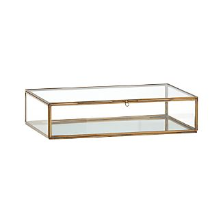 Clarus Large Brass Glass Display Box