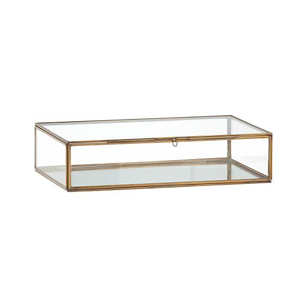 Clarus Large Brass Glass Display Box