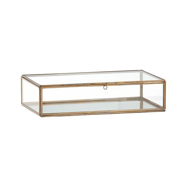 Clarus Small Brass Display Box
