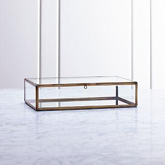 Clarus Small Brass Display/Jewelry Box