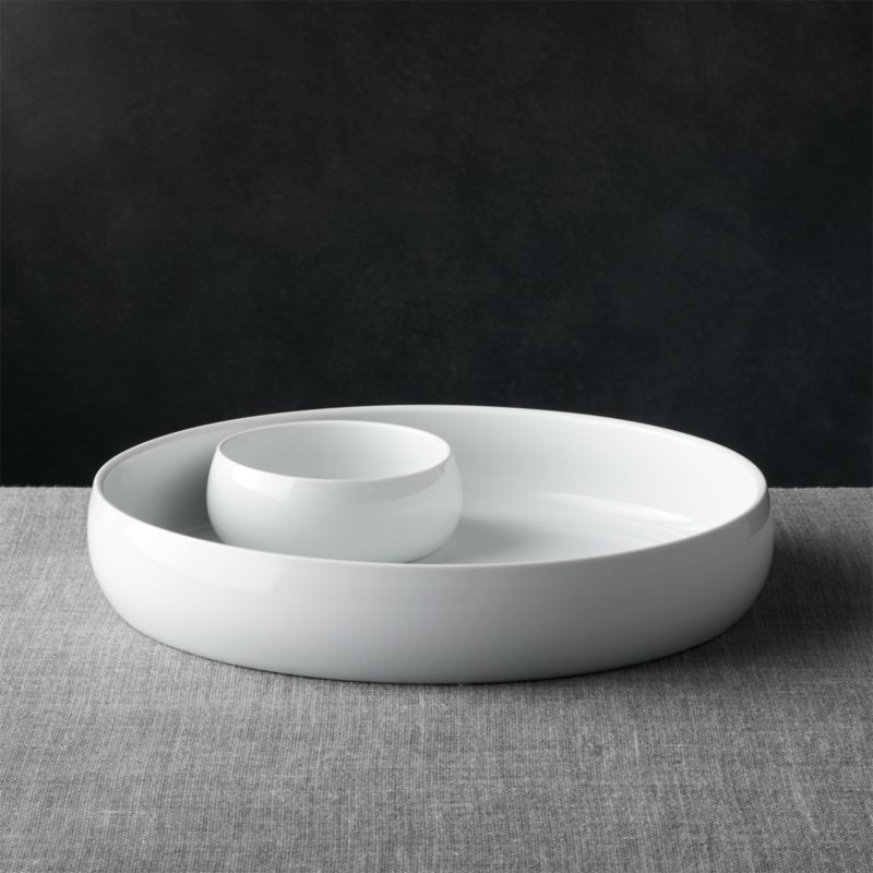 Classic White Chip And Dip Set Crate And Barrel