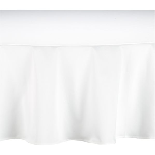 """Classic White 90"""" Round Tablecloth"""
