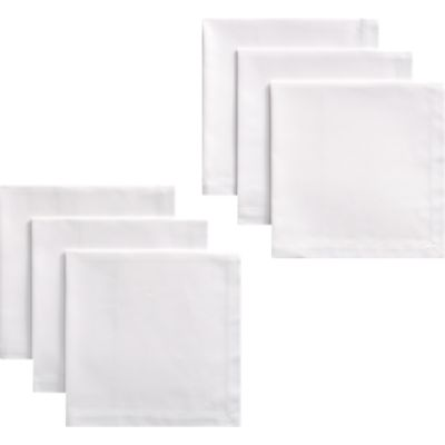 Set of 6 Classic White Dinner Napkins