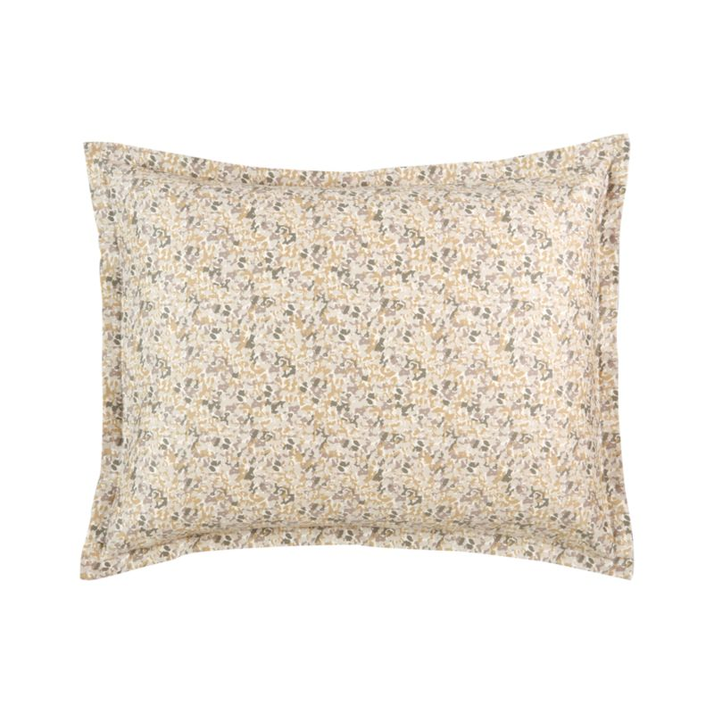 "Organic patterning in subtle neutrals creates rich visual texture in lustrous cotton sateen. Matching pillow sham has a 1"" flange and generous back flap closure. Bed pillows also available.<br /><br /><NEWTAG/><ul><li>100% cotton sateen</li><li>220-thread-count</li><li>Machine wash</li><li>Made in Israel</li></ul>"