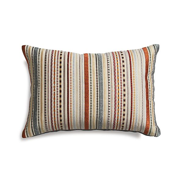 "Clovis 18""x12"" Pillow with Feather-Down Insert"
