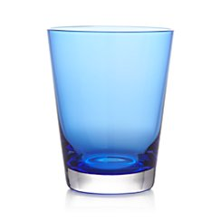Cobalt Double Old-Fashioned Glass.