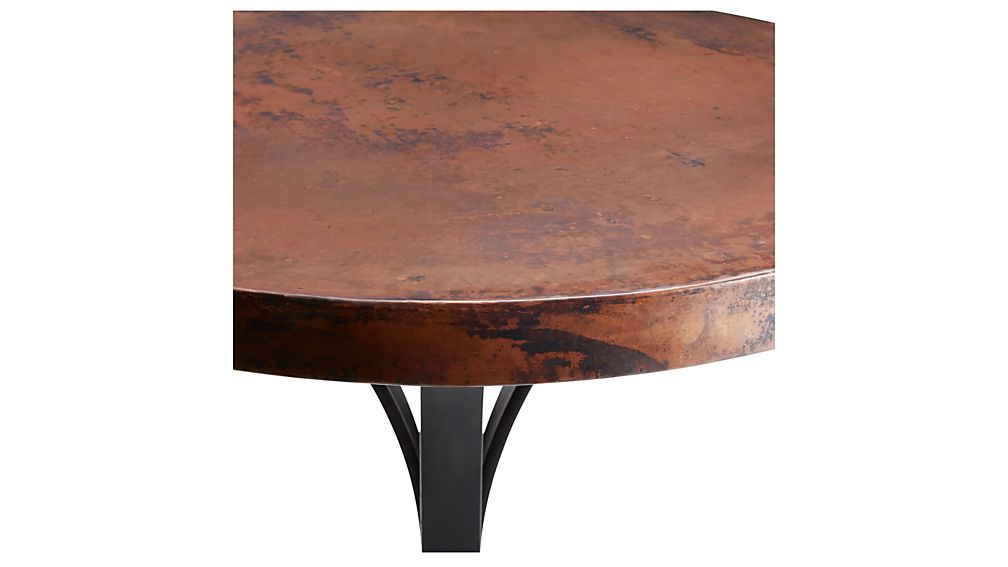 """Cobre 32"""" Round Iron Bistro Table with Copper Top"""