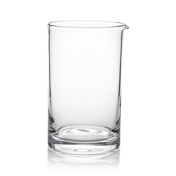 Cocktail Mixing Glass In Bar Accessories Crate And Barrel
