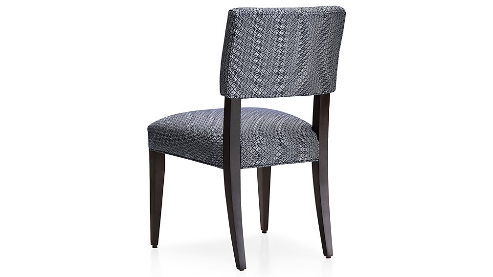 Crate And Barrel Chair Covers Cody Upholstered Dining Chair Selene: Navy | Crate and Barrel
