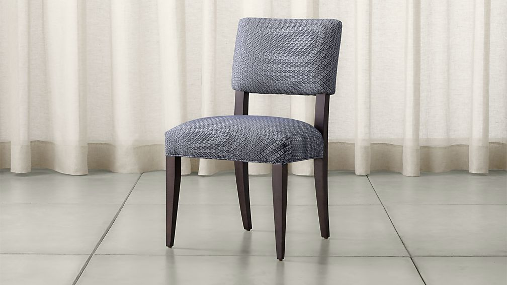 Cody Upholstered Dining Chair Selene Navy Crate And Barrel