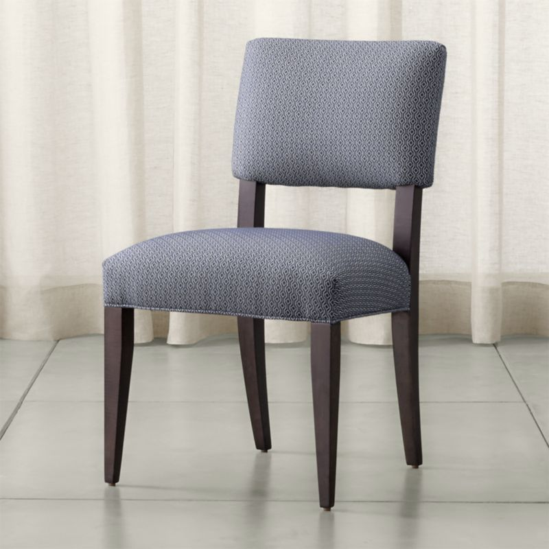 Crate And Barrel Dining Room Chairs: Cody Upholstered Dining Chair Selene: Navy