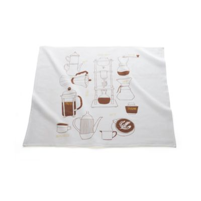 Coffee Print Floursack Dishtowel