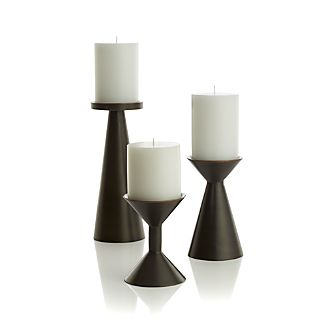 Cohen Black Metal Pillar Candle Holders