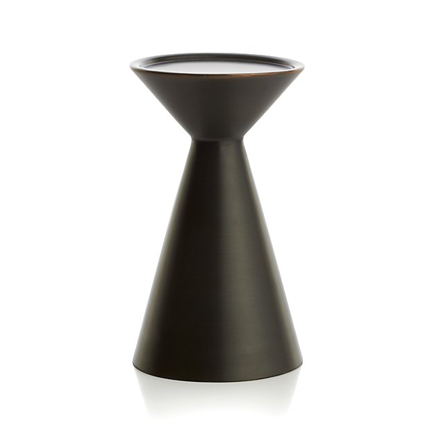 Cohen Medium Black Metal Pillar Candle Holder