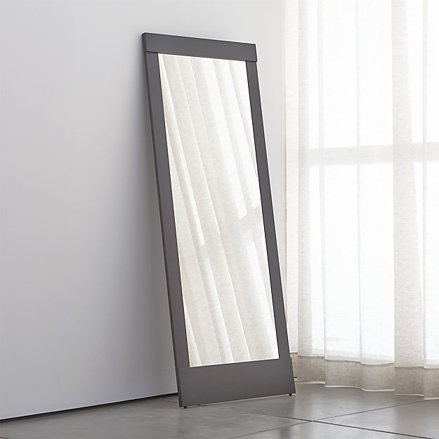 Colby Gunmetal Floor Mirror Crate And Barrel