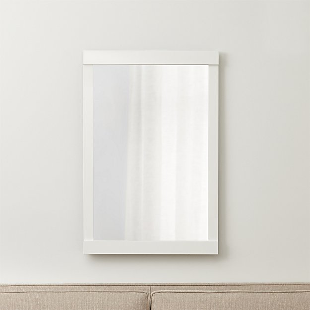 Colby White Wall Mirror Crate And Barrel