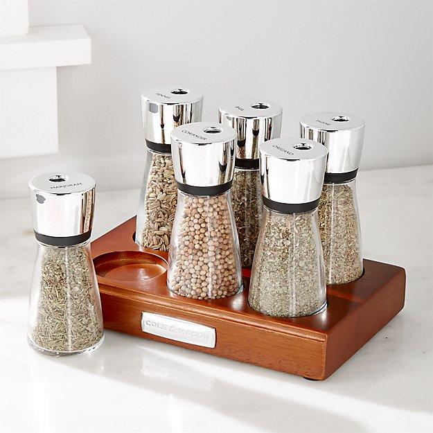 Cole & Mason 6-Jar Spice Rack
