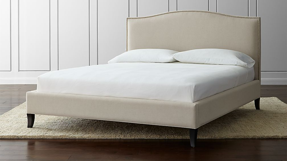 Colette Upholstered California King Bed Origin Natural Crate And Barrel