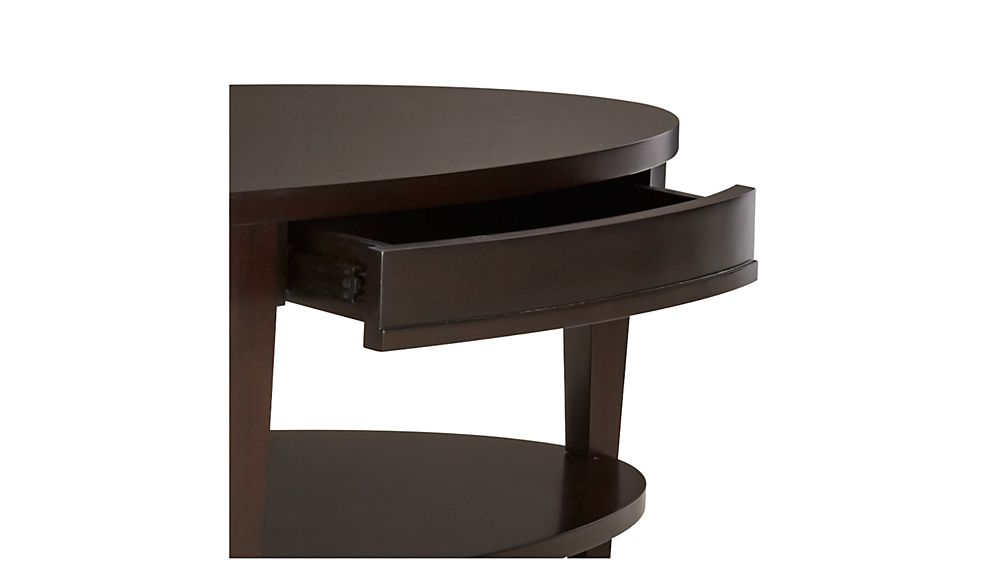 colette oval coffee table with drawers crate and barrel